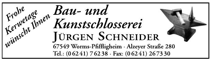 Bau-und Kunstschlosserei Jürgen Schneider