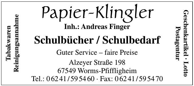 Papier-Klingler-Inh.: Andreas Finger
