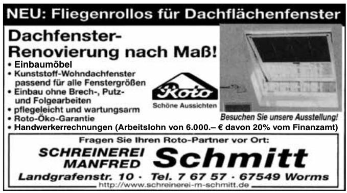 Schreinerei Manfred Schmitt